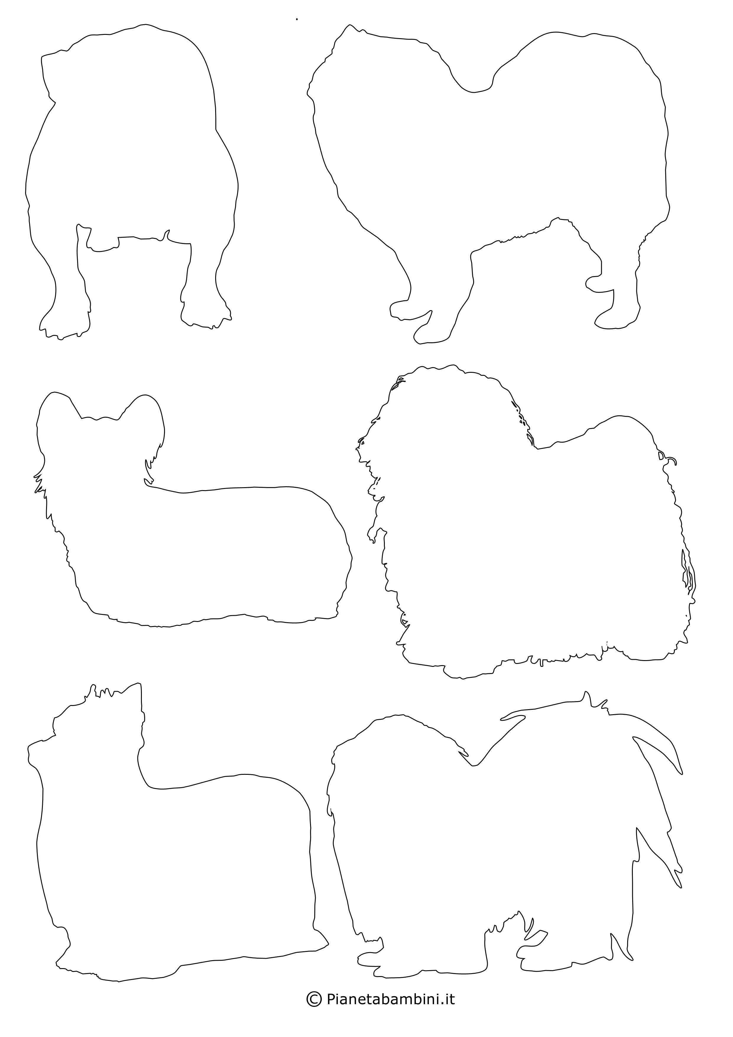Sagome di cani piccole da ritagliare 12