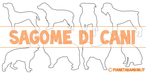 Stencil di cani da stampare e ritagliare