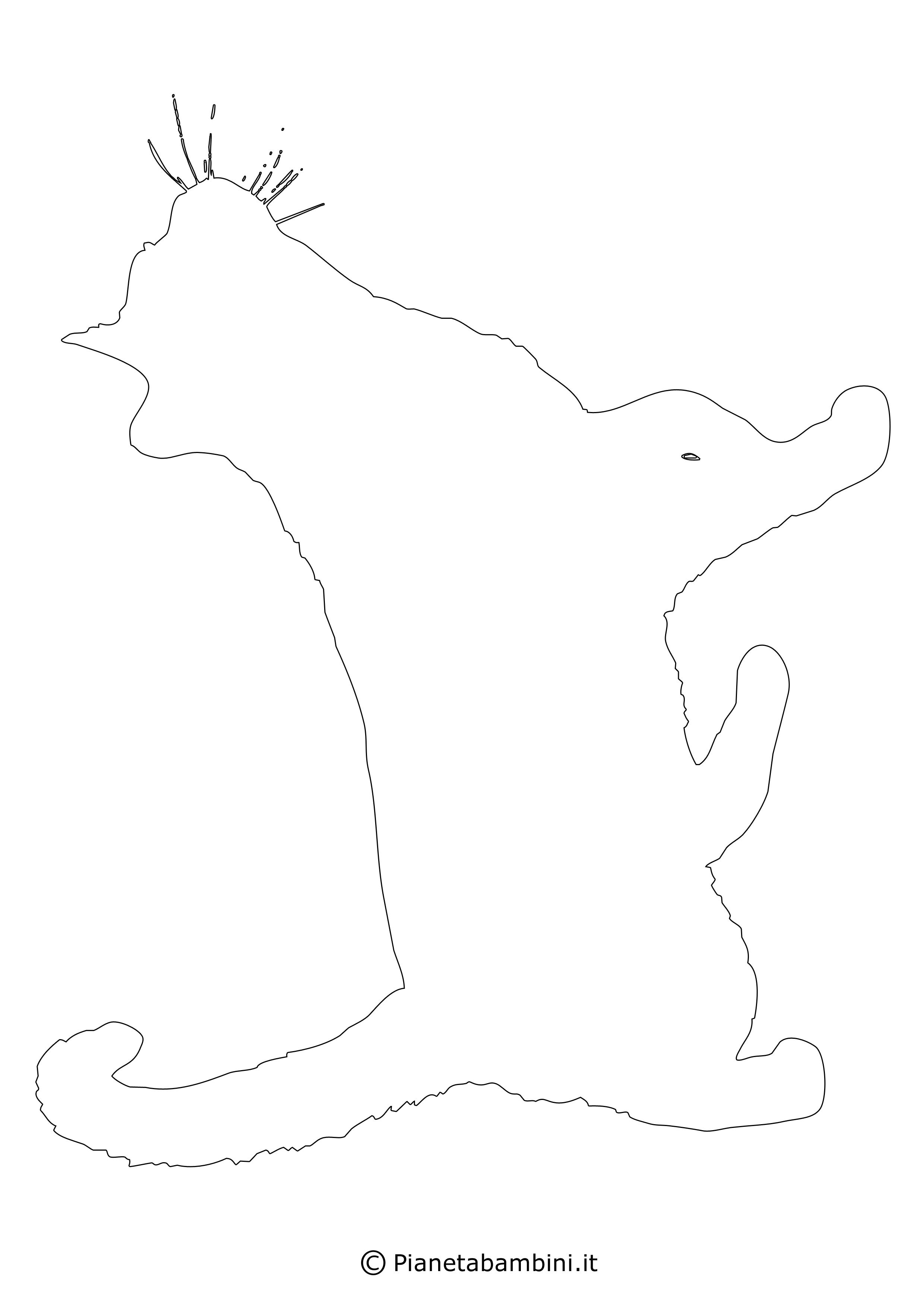 Sagoma gatto grande da ritagliare 14