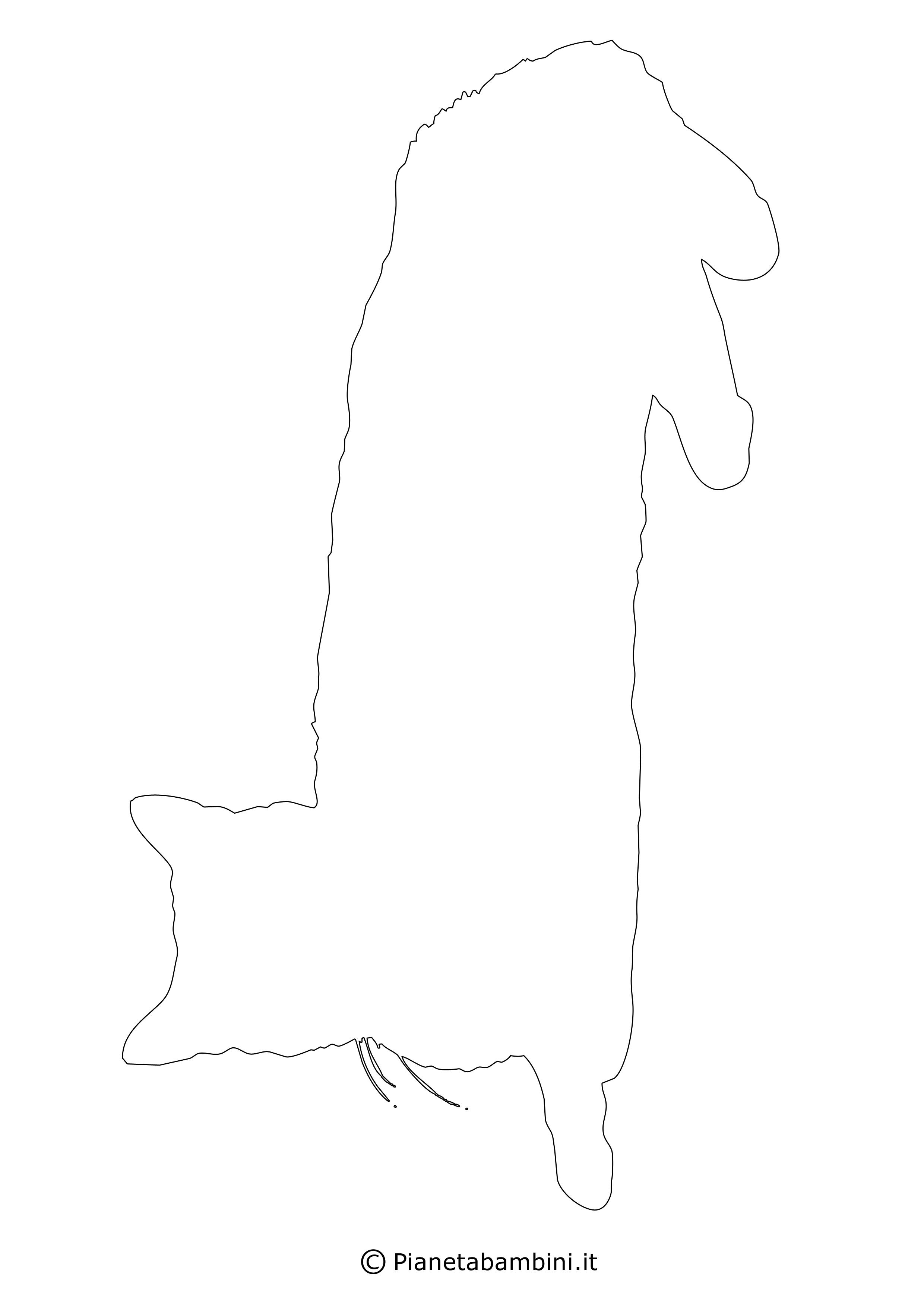 Sagoma gatto grande da ritagliare 15