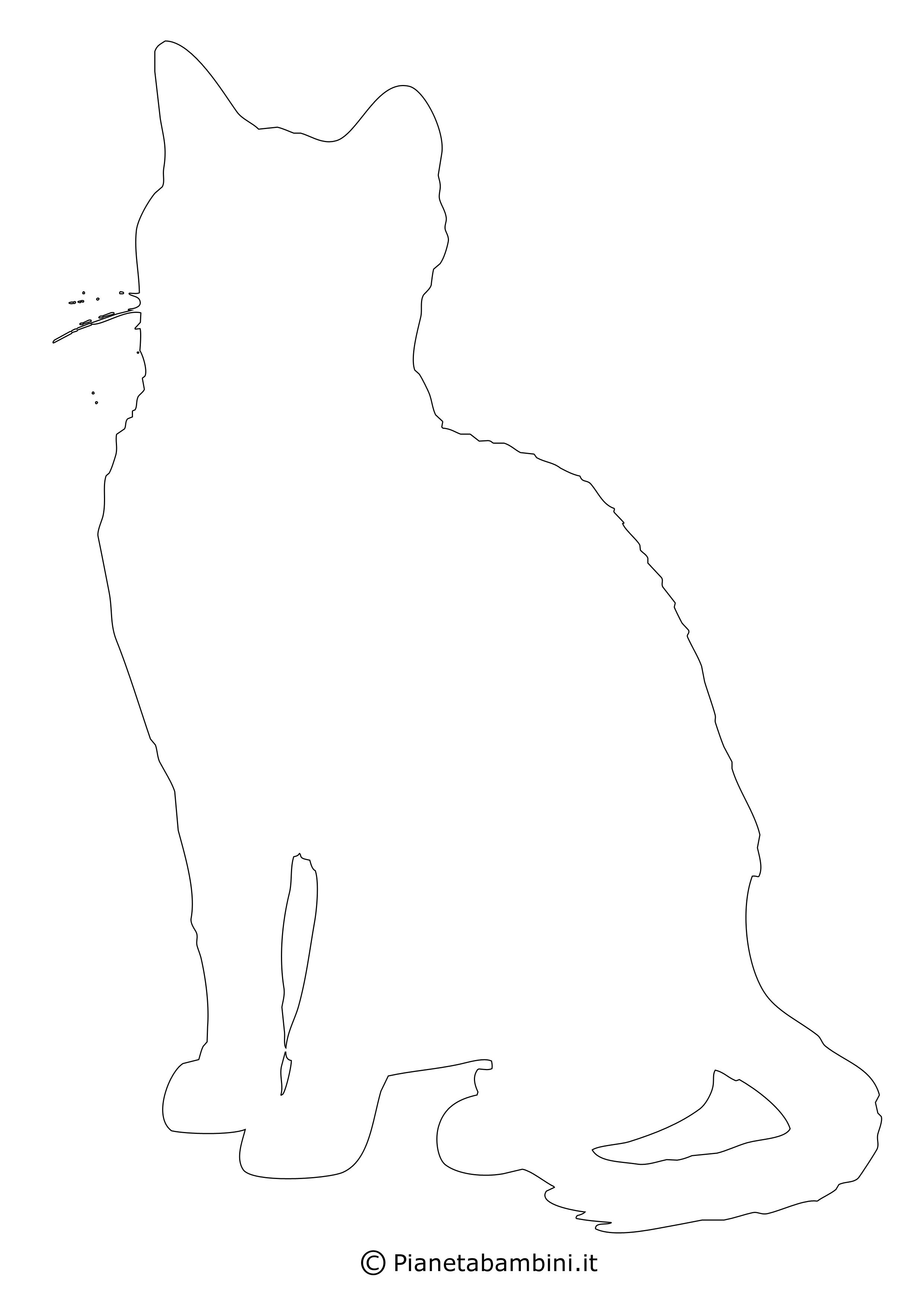 Sagoma gatto grande da ritagliare 18