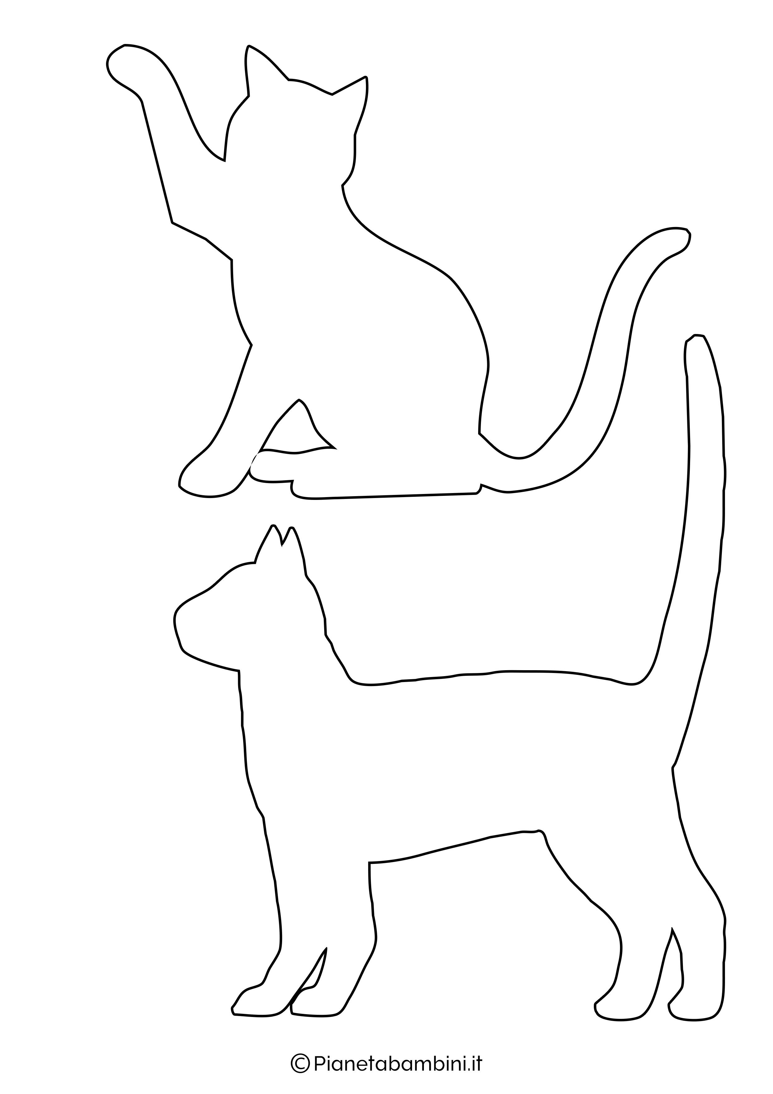 Sagome gatti medie da ritagliare 1