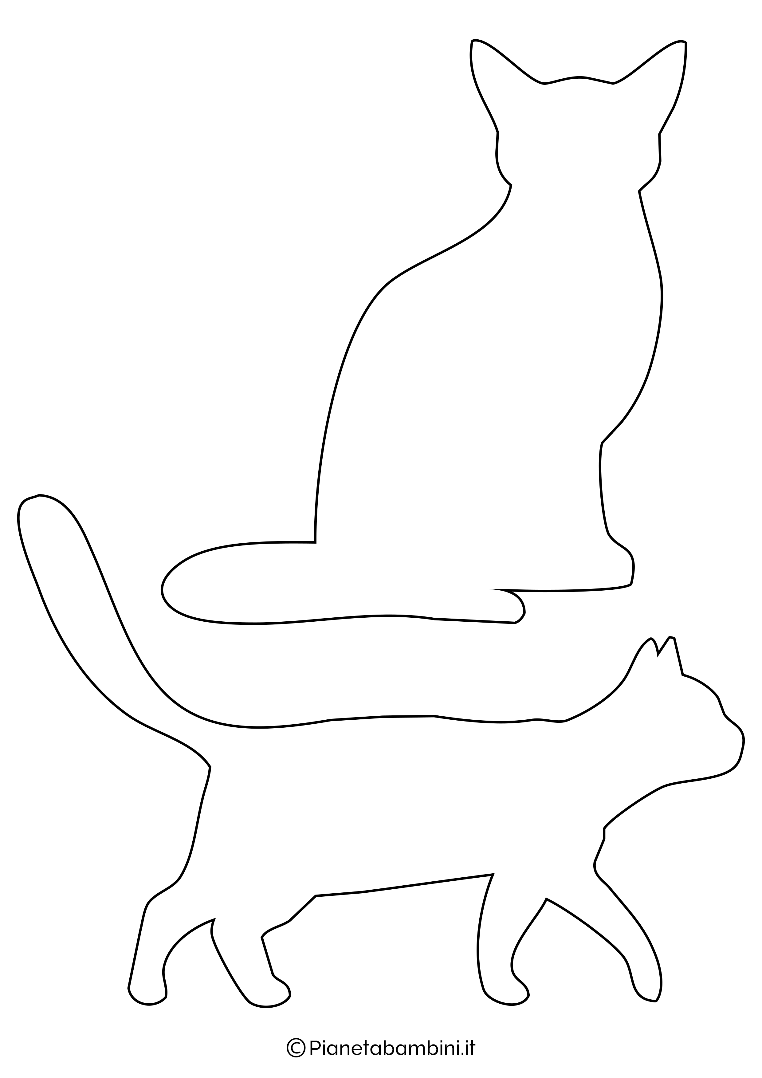 Sagome gatti medie da ritagliare 2