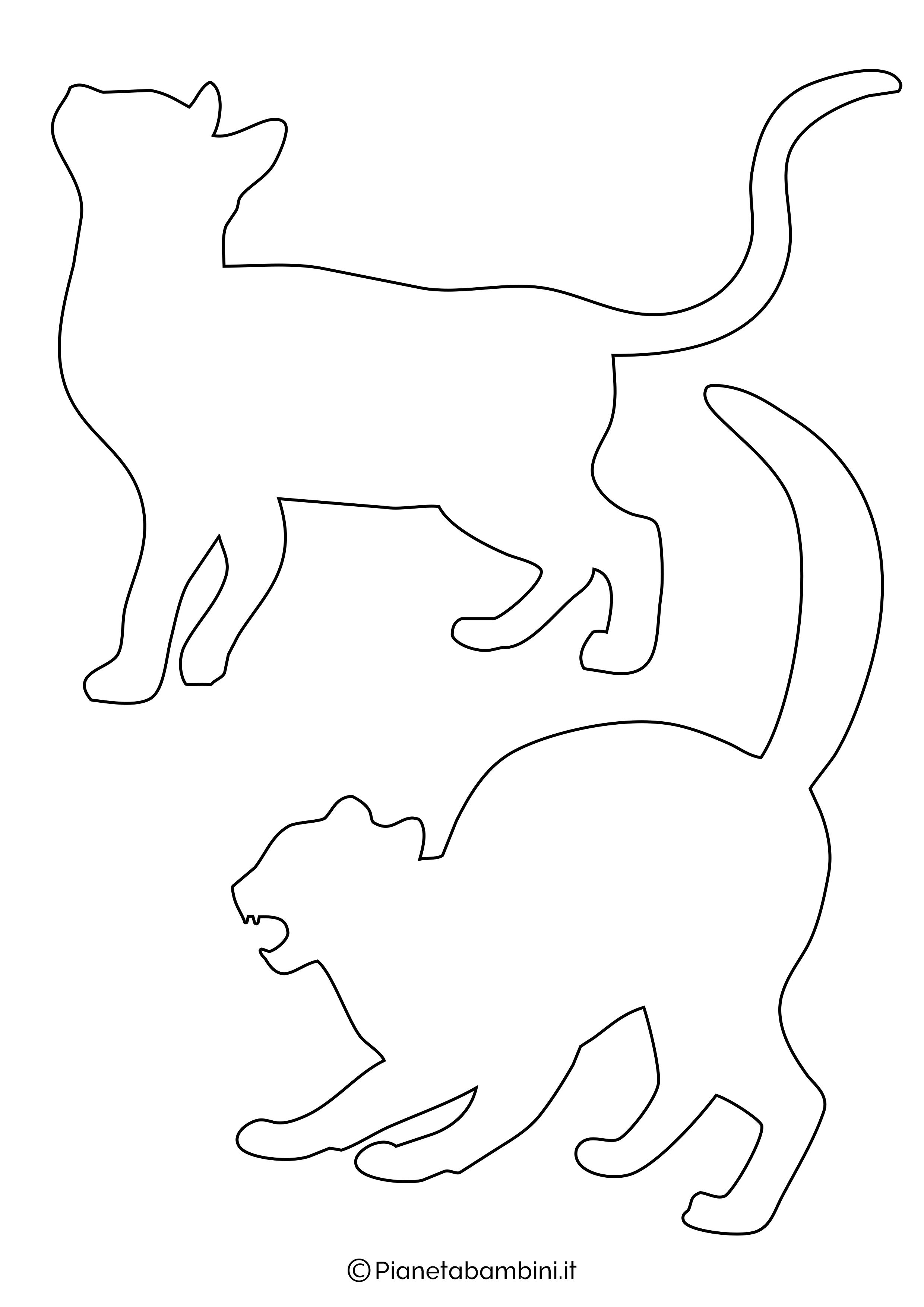 Sagome gatti medie da ritagliare 3