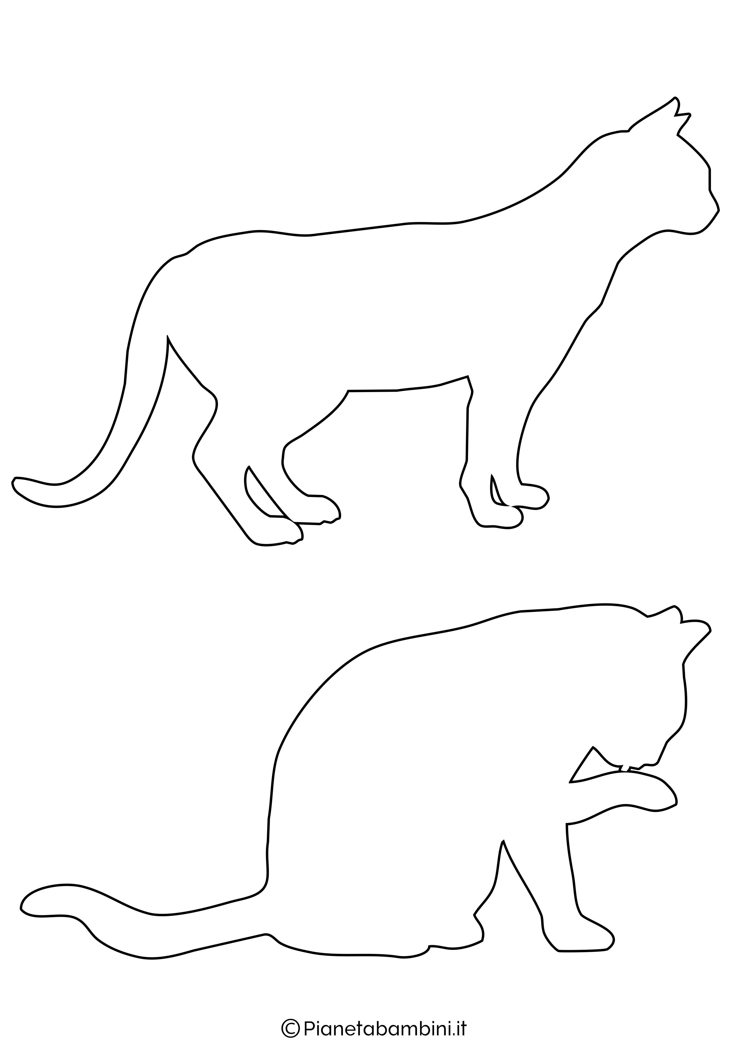 Sagome gatti medie da ritagliare 4