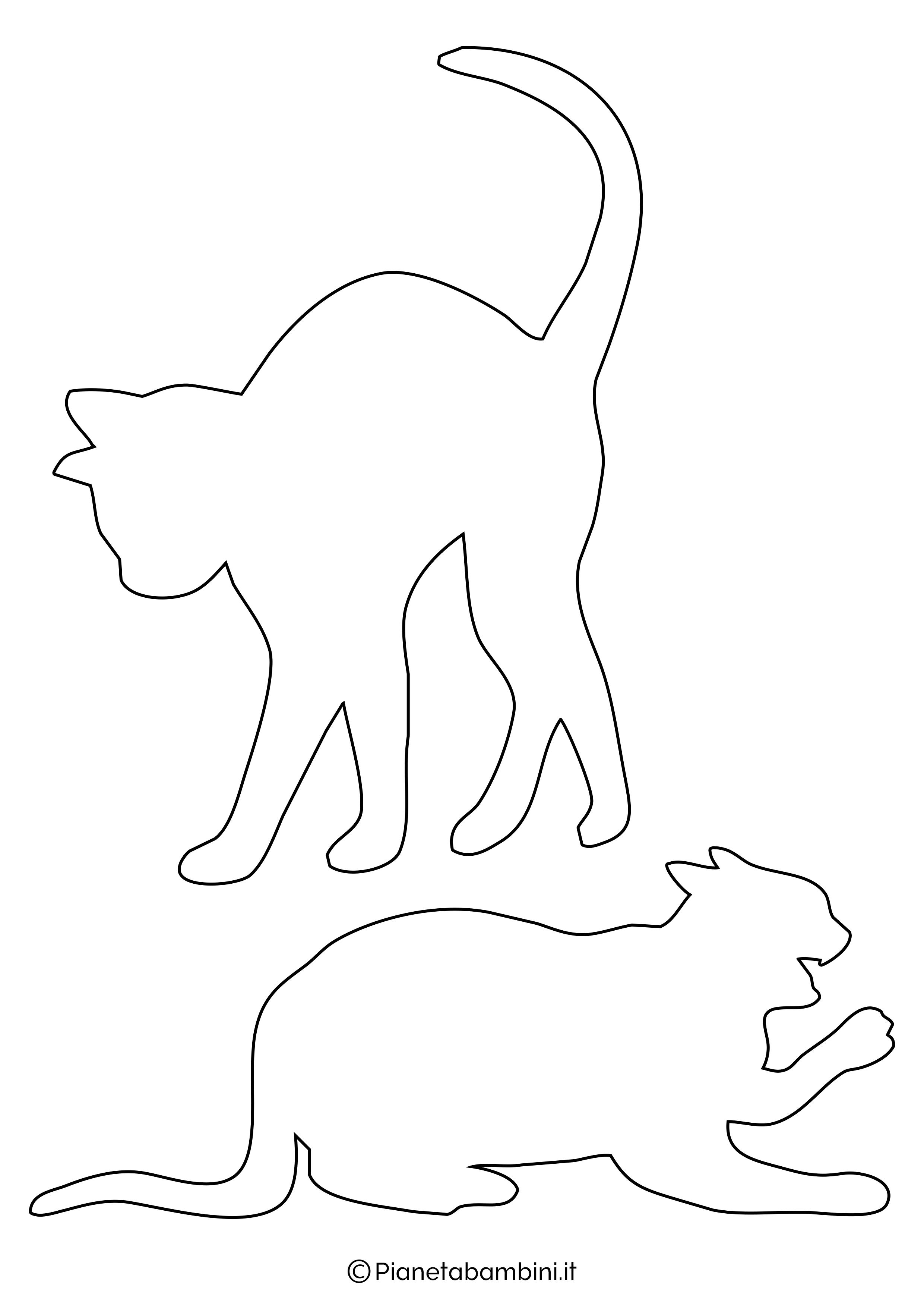Sagome gatti medie da ritagliare 5