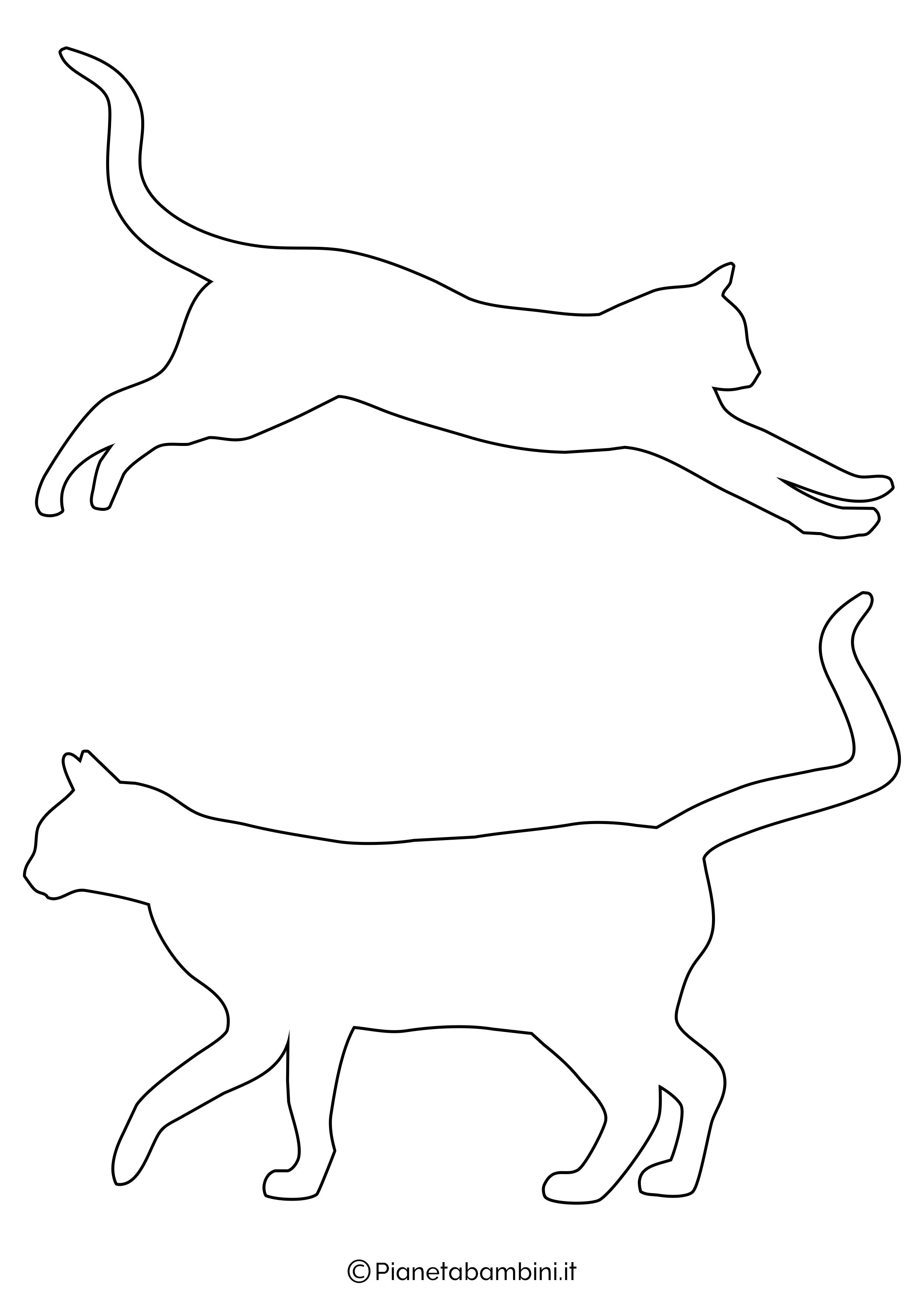 Sagome gatti medie da ritagliare 6