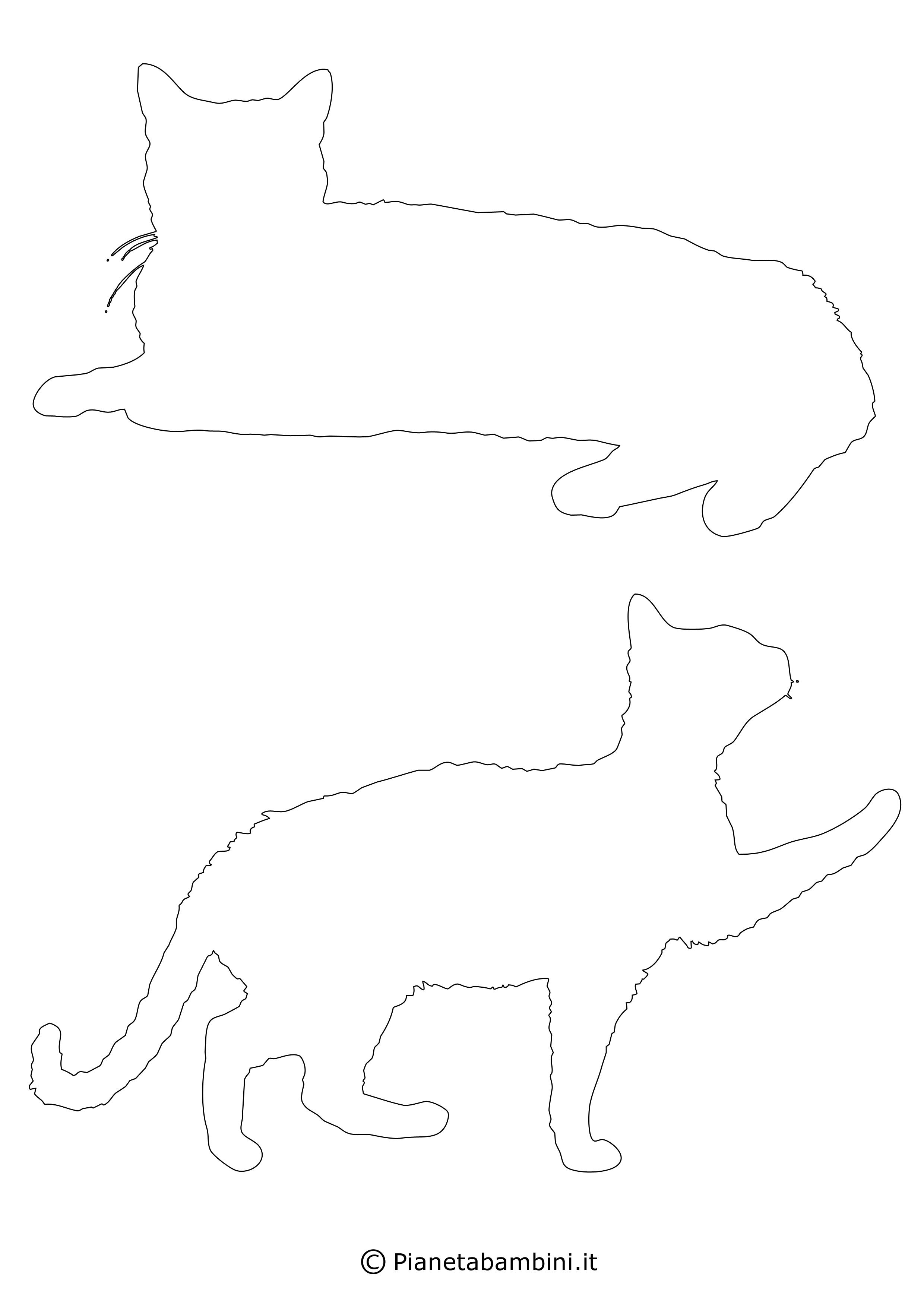 Sagome gatti medie da ritagliare 8