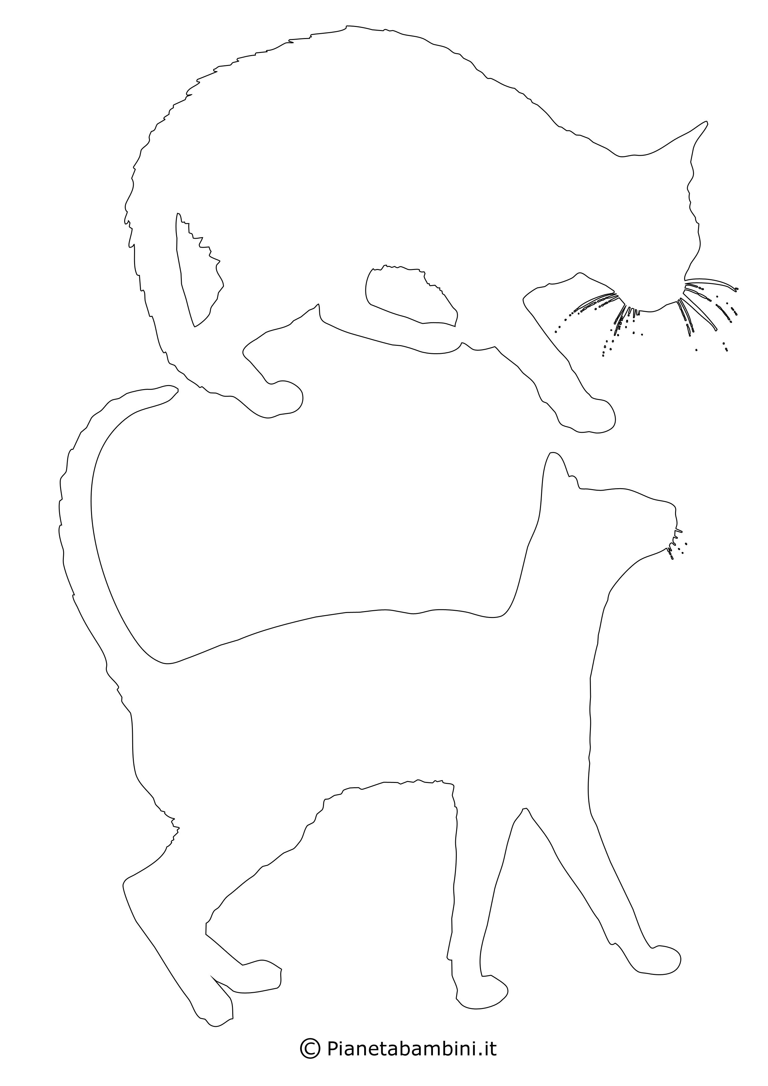 Sagome gatti medie da ritagliare 9
