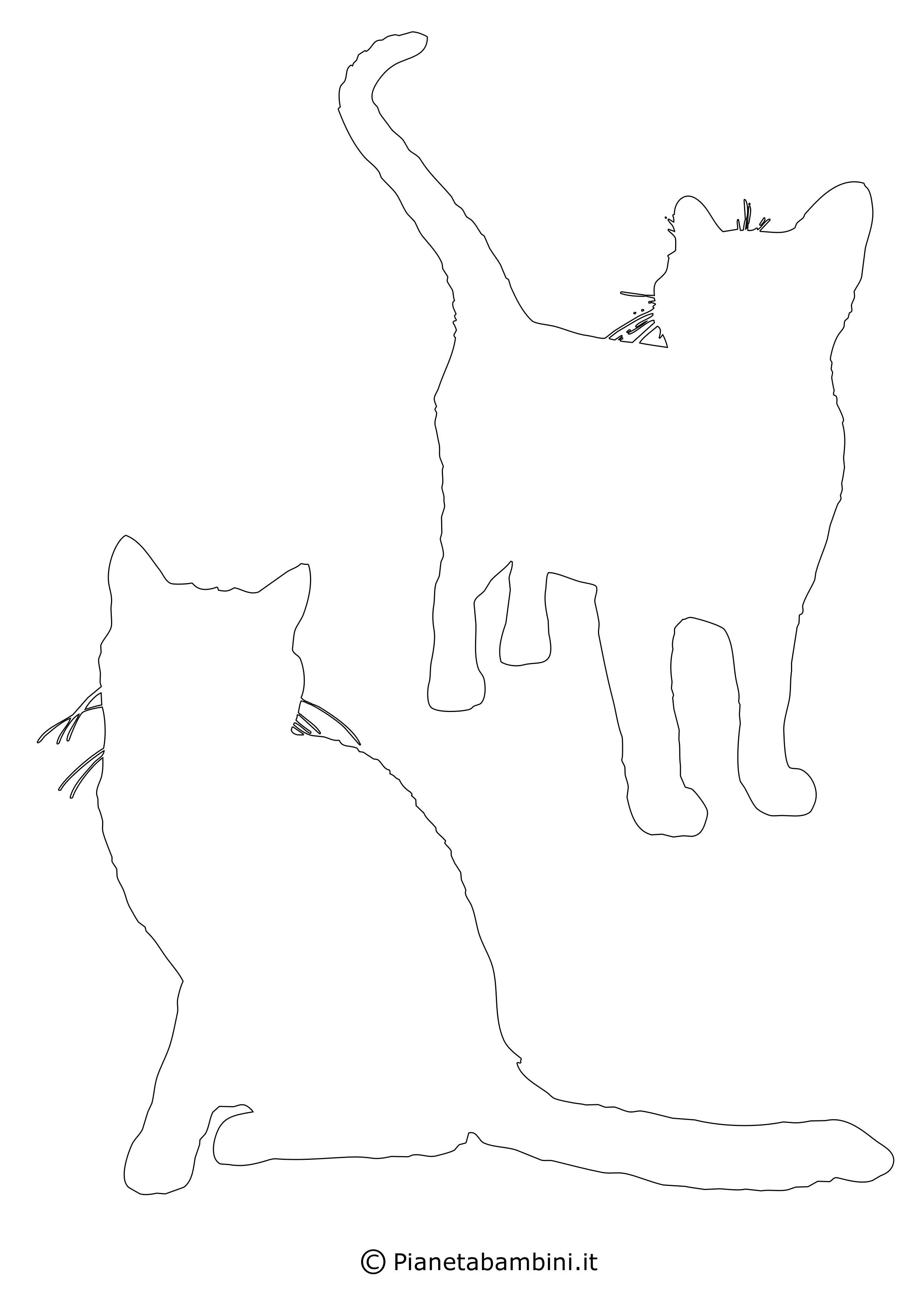 Sagome gatti medie da ritagliare 10