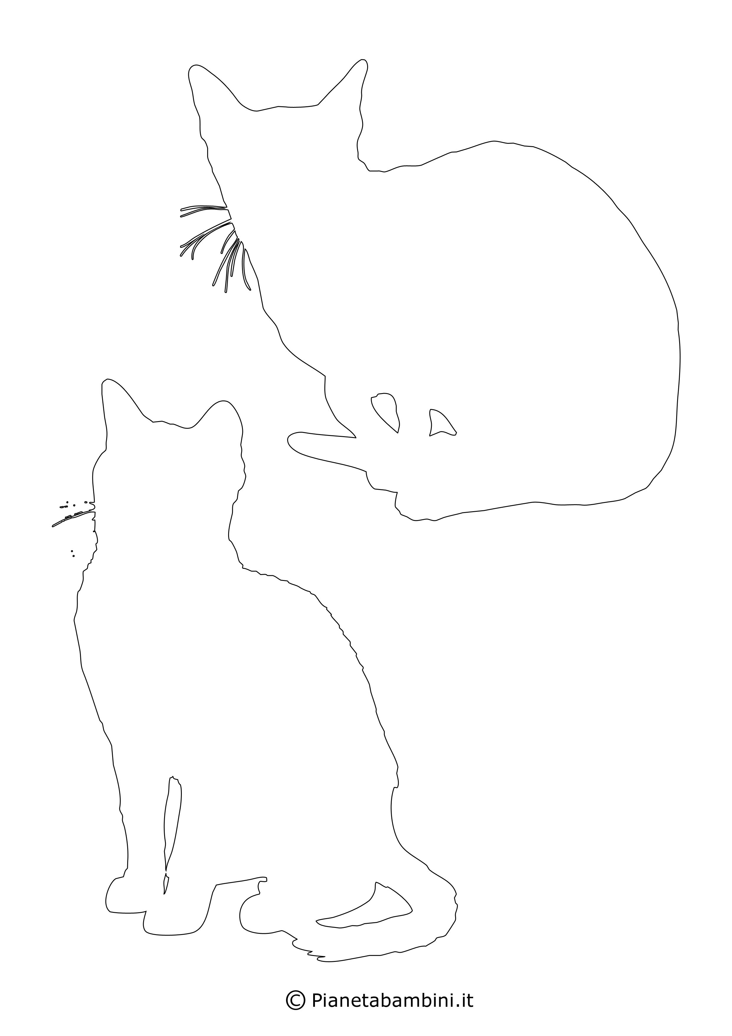 Sagome gatti medie da ritagliare 12
