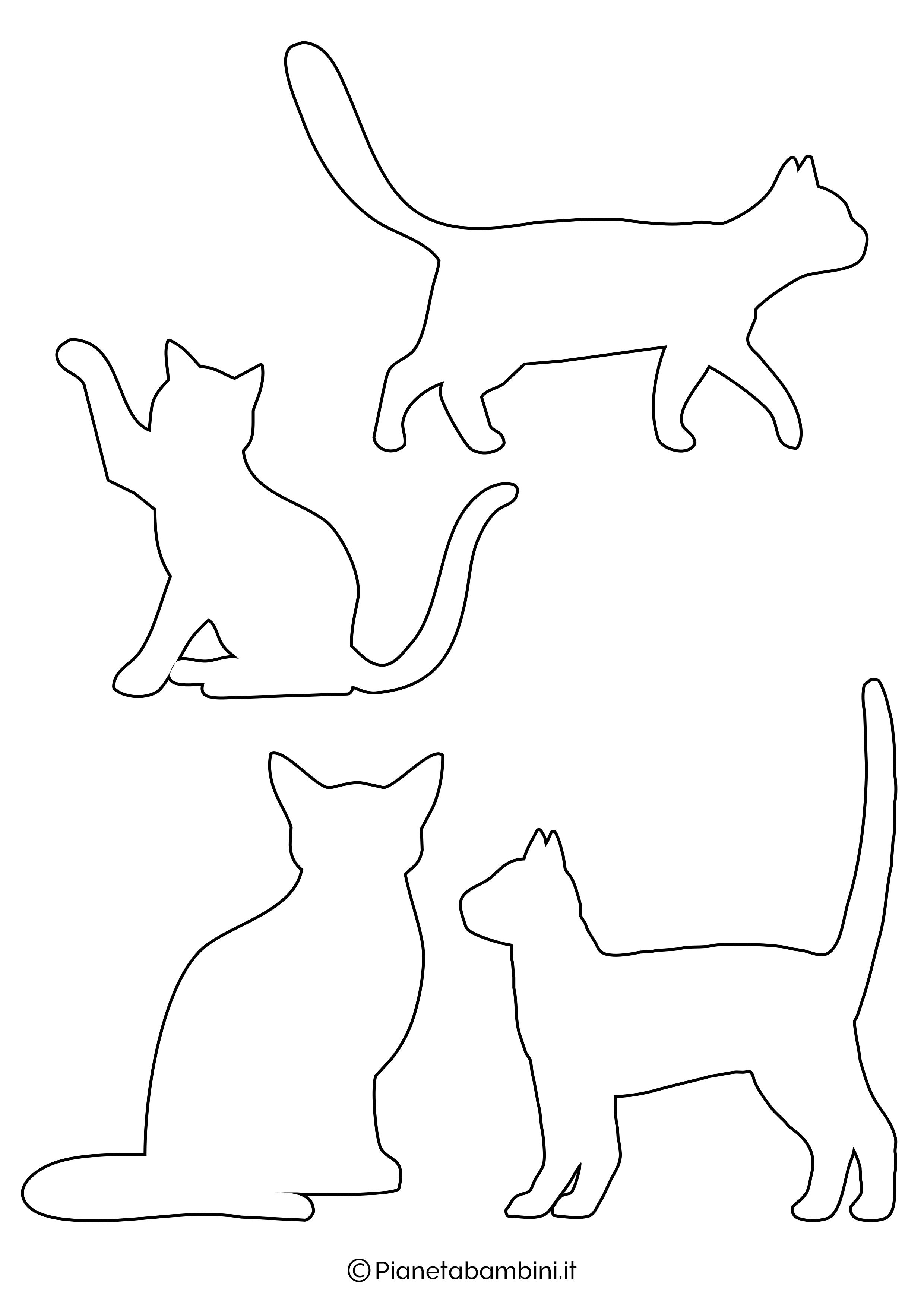 Sagome gatti piccole da ritagliare 1