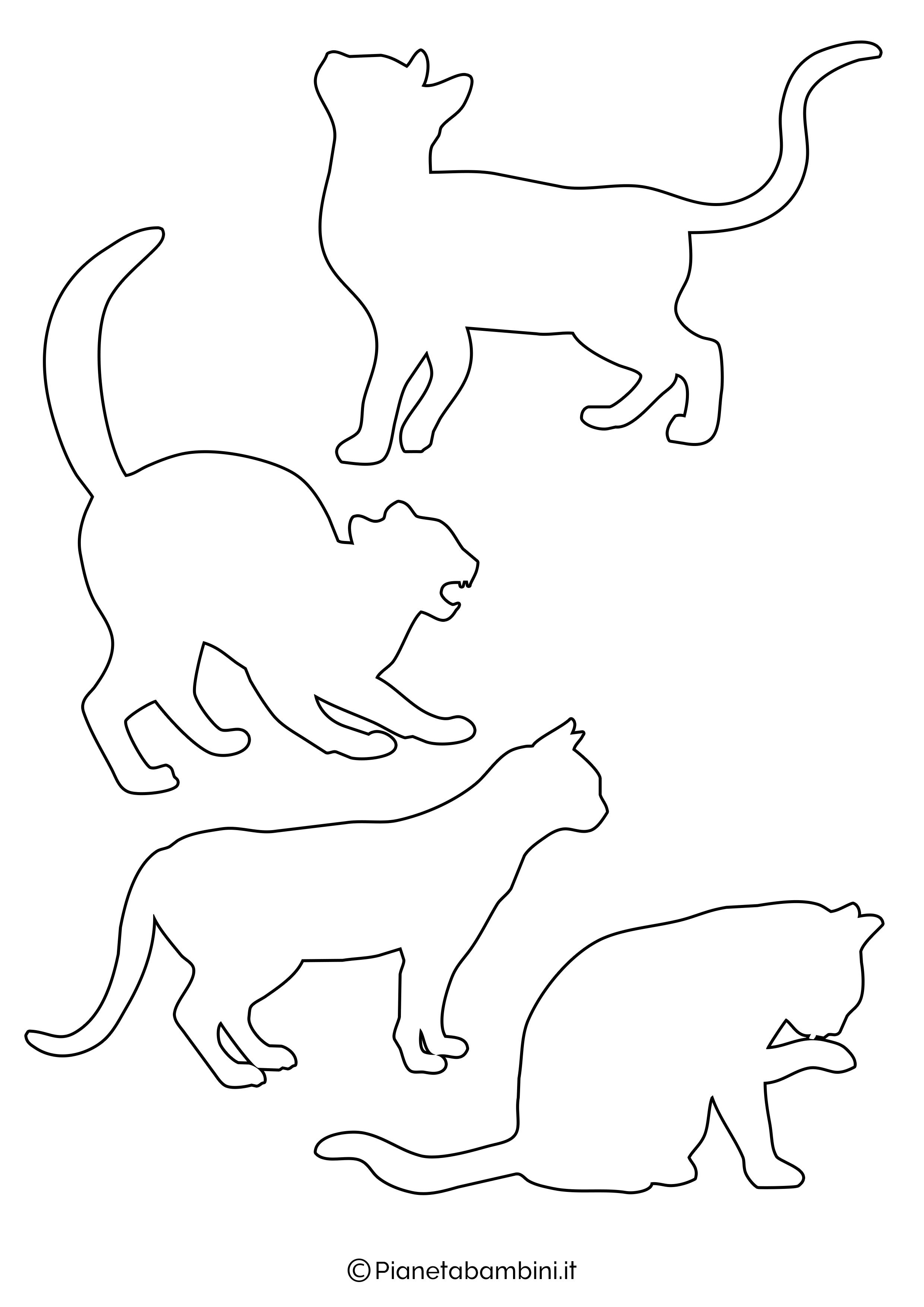 Sagome gatti piccole da ritagliare 2