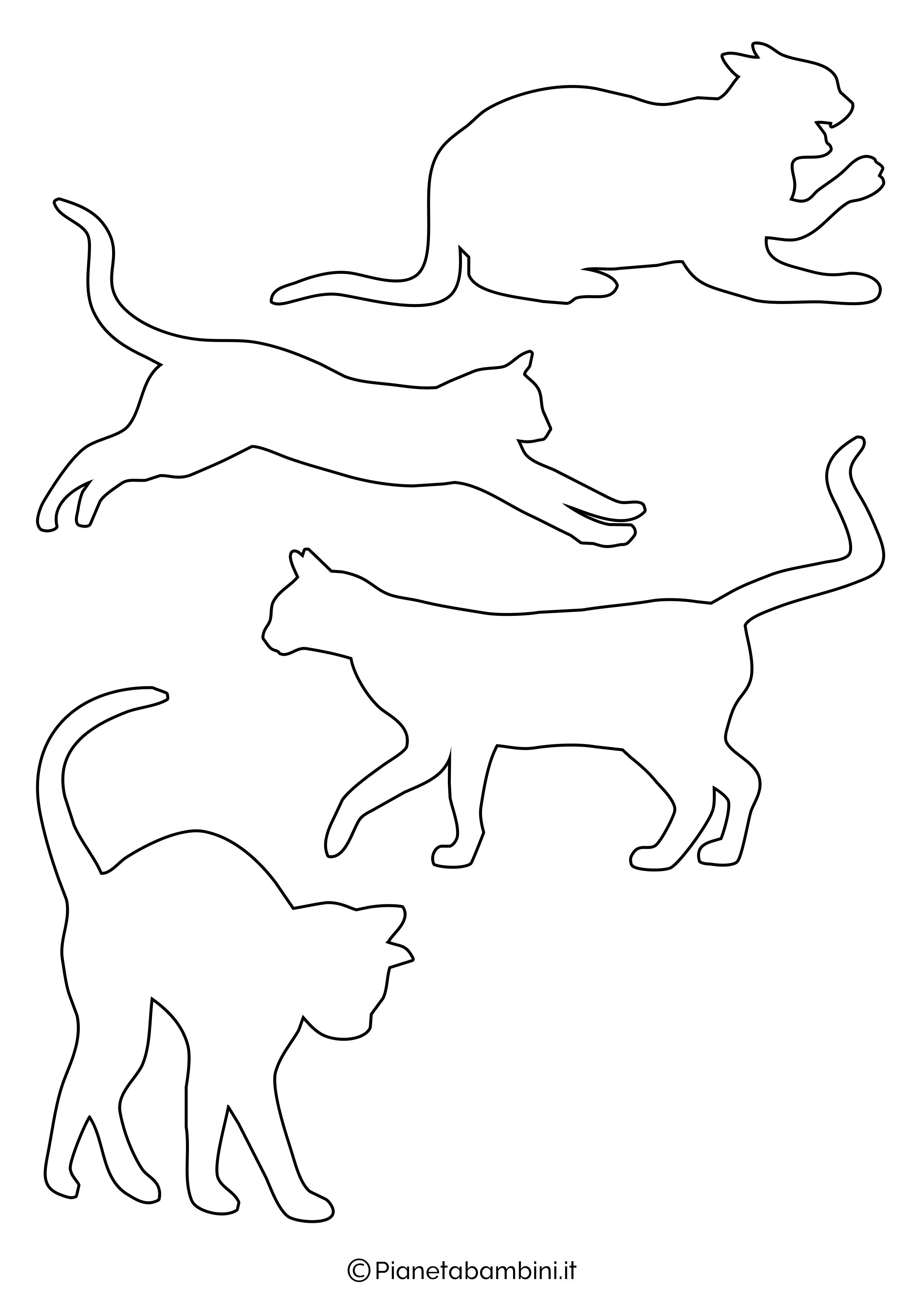 Sagome gatti piccole da ritagliare 3