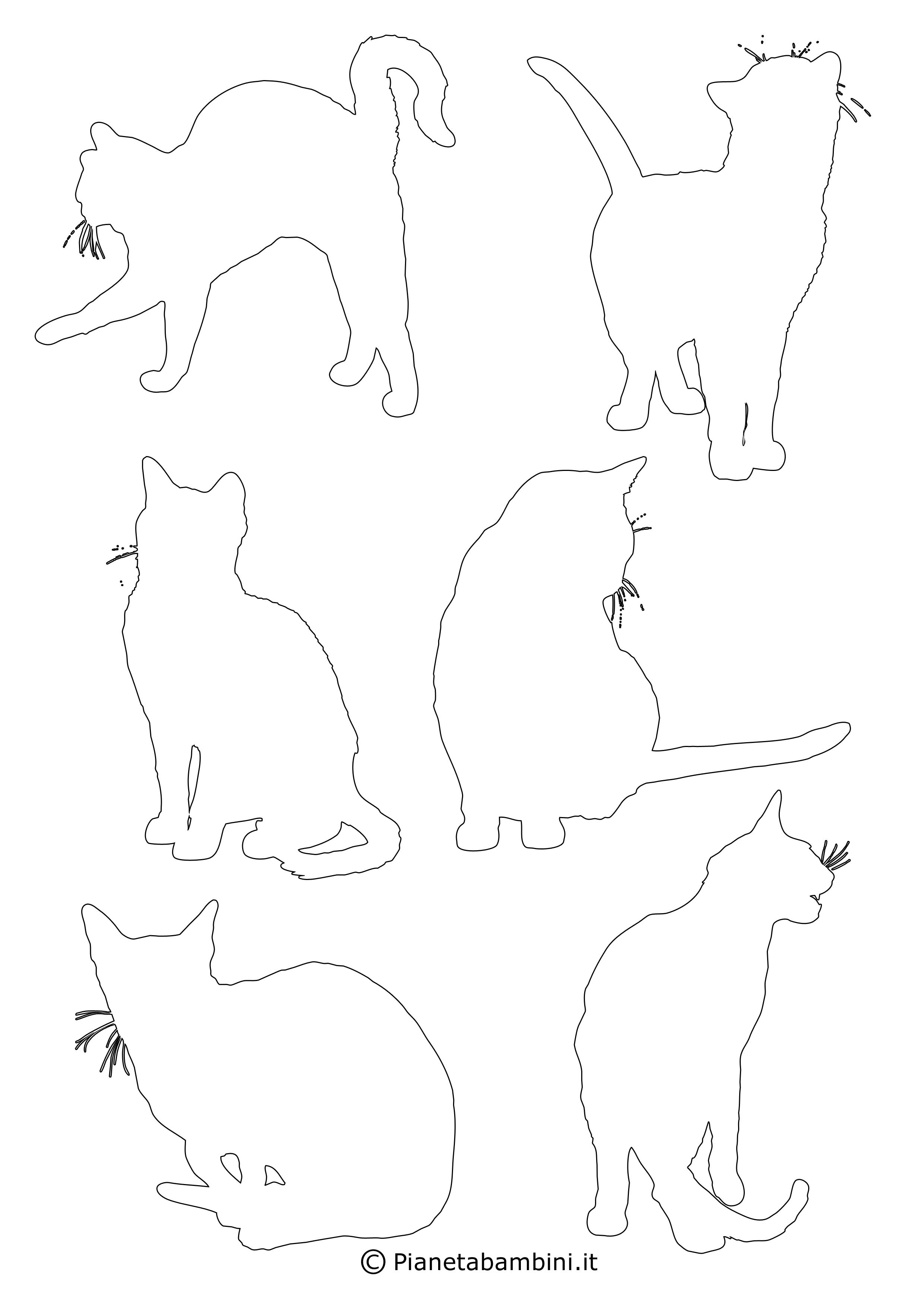 Sagoma Gatto Da Ritagliare Acolore