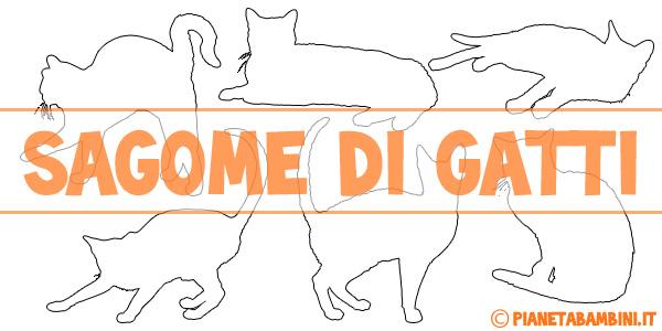 Sagome di gatti da stampare gratis