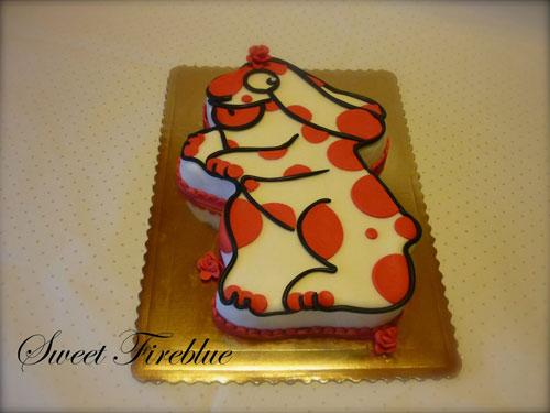Foto della torta della Pimpa n.13