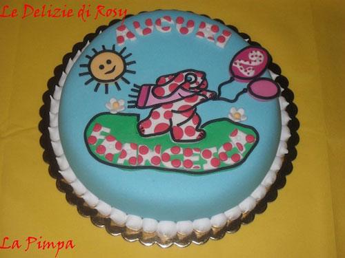 Foto della torta della Pimpa n.43