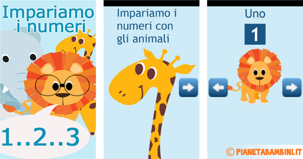 Immagine dell'app per Windows Phone Impariamo i numeri con gli animali