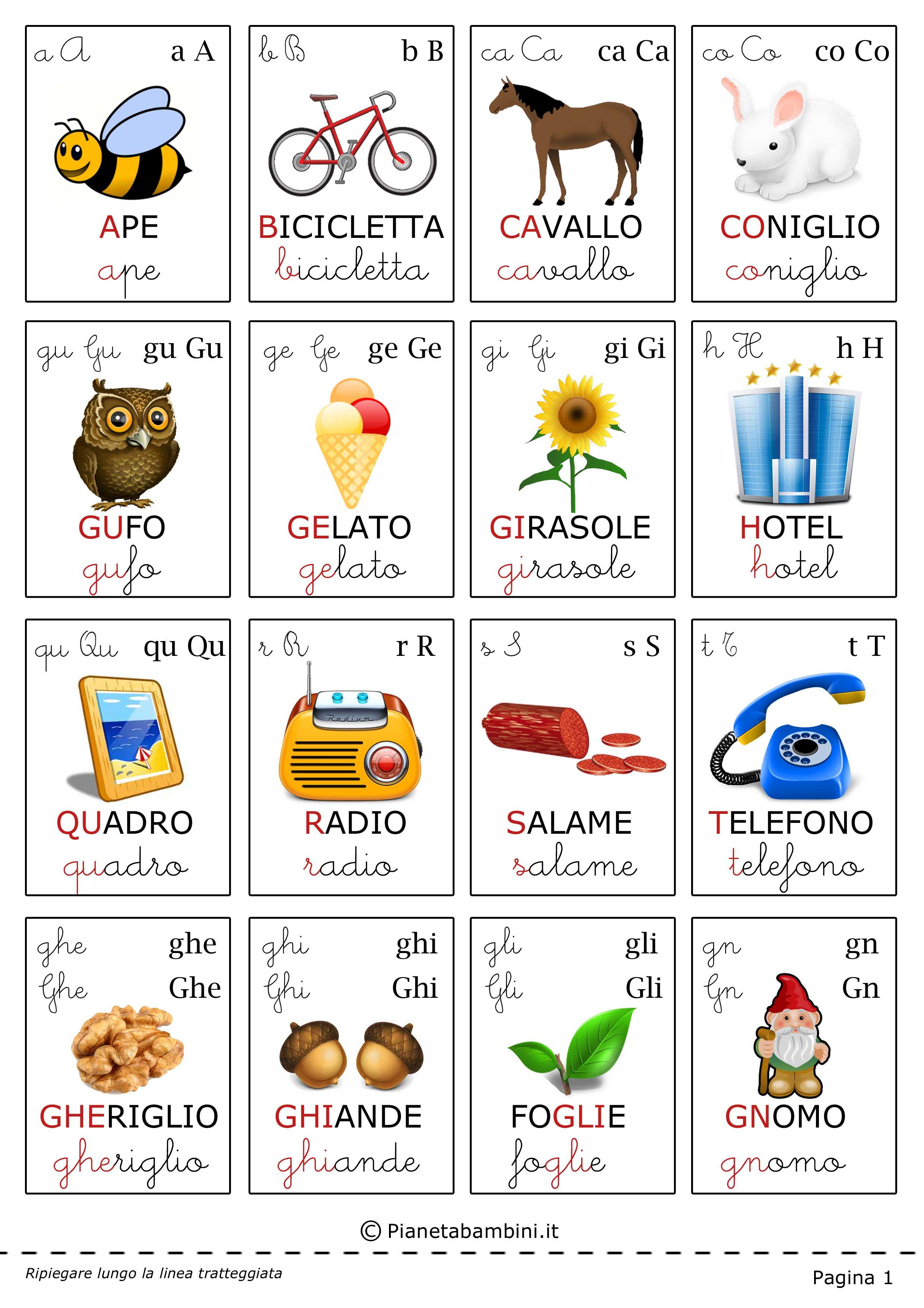 carte tematiche per bambini le lettere dellalfabeto
