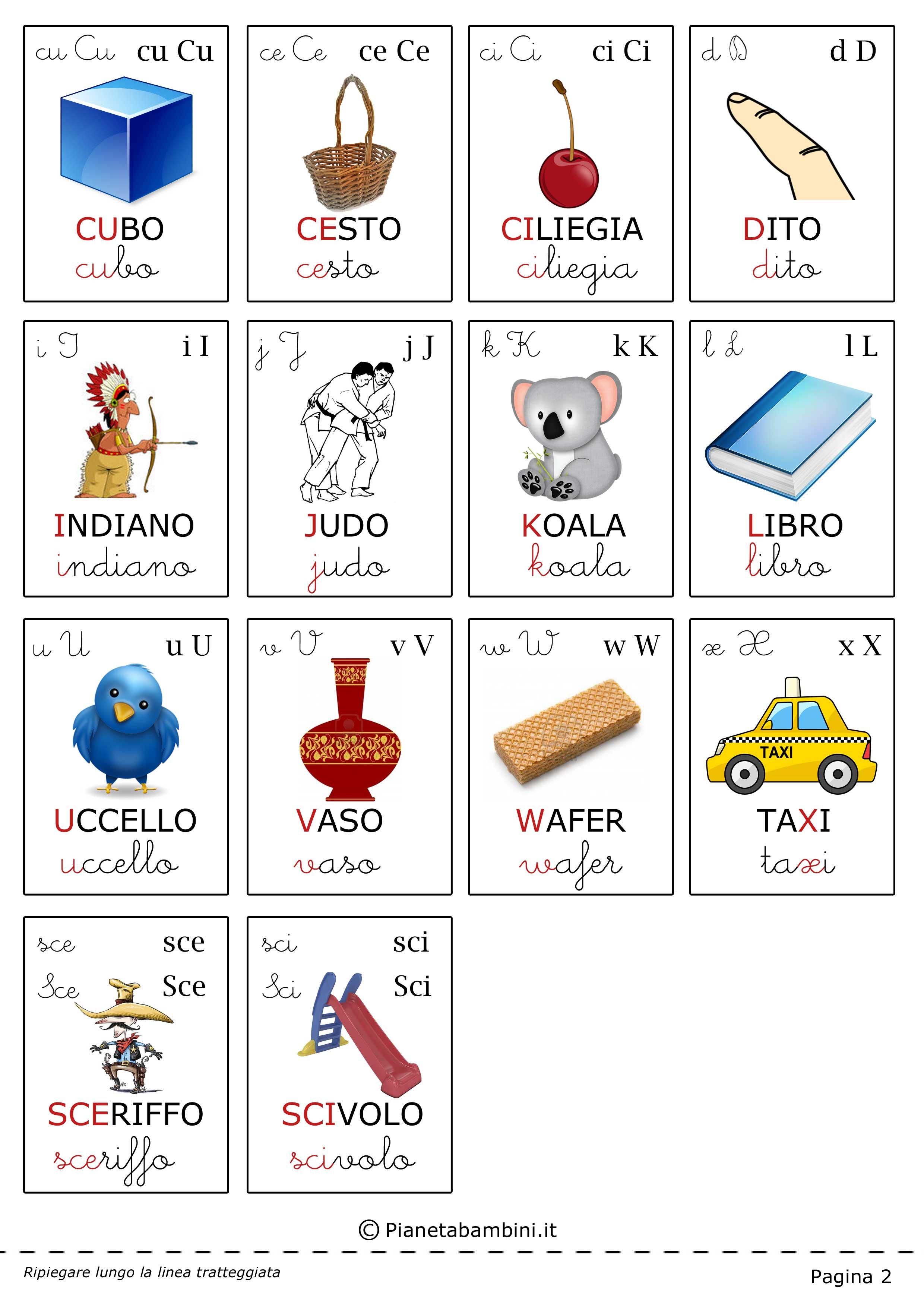 Carte Tematiche Per Bambini Le Lettere Dell Alfabeto
