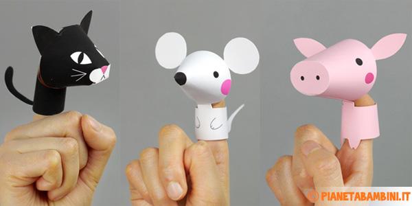 Marionette Di Carta Da Dita Da Costruire Per Bambini Pianetabambiniit