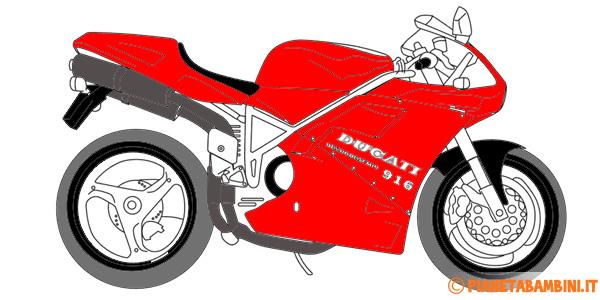Disegni di moto da stampare e colorare