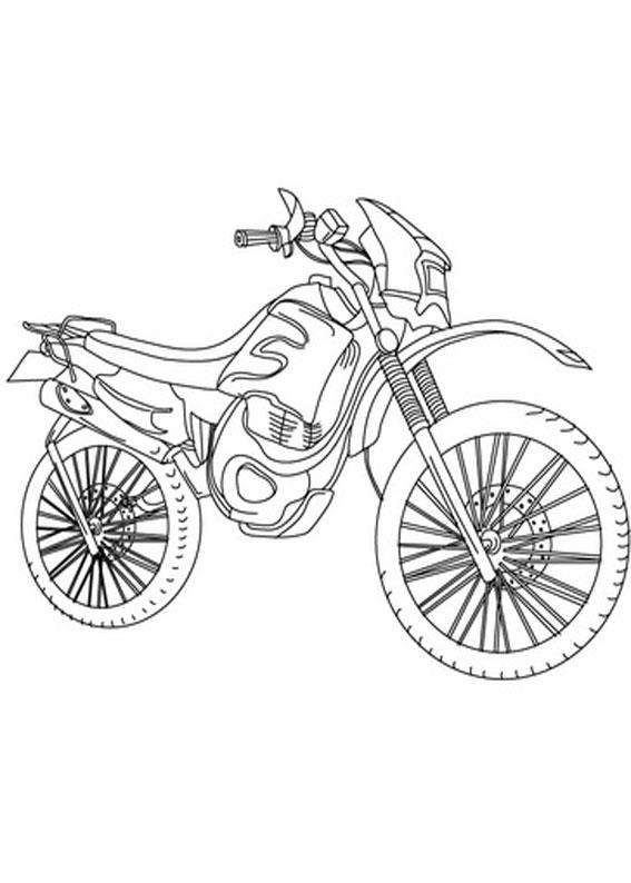 30 disegni di moto da stampare e colorare for Disegni delle macchine