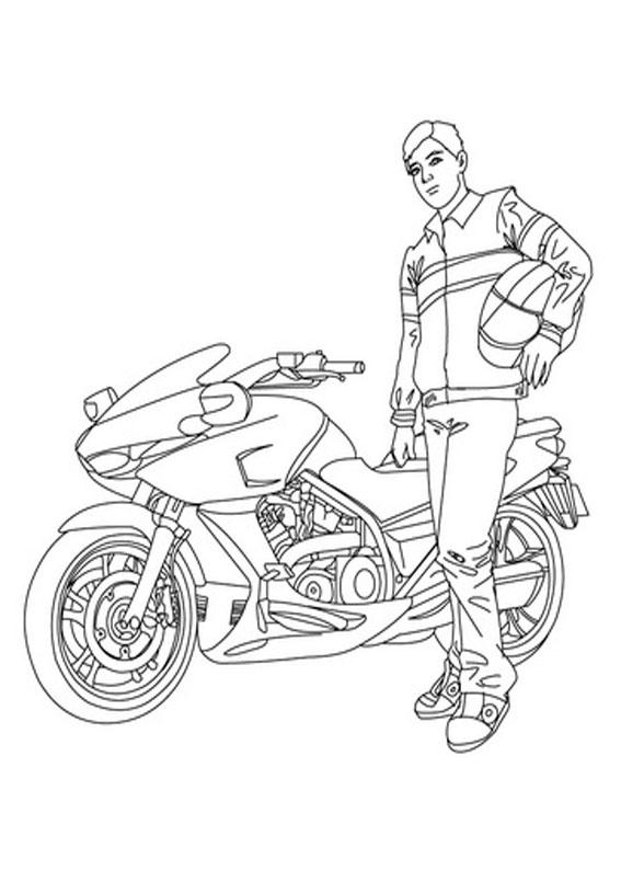 30 Disegni Di Moto Da Stampare E Colorare Pianetabambiniit