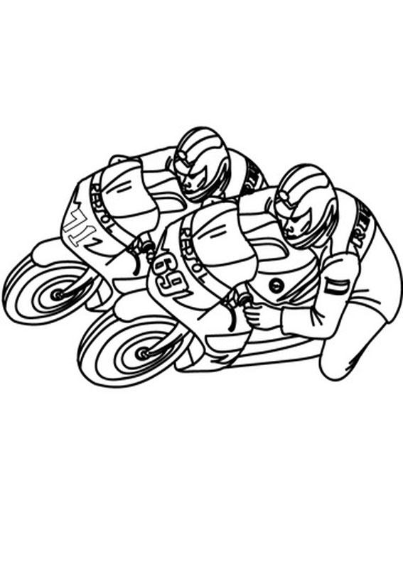 30 disegni di moto da stampare e colorare