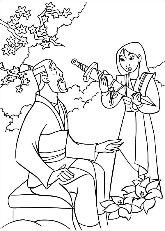 Chien Po Mulan Coloring Pages