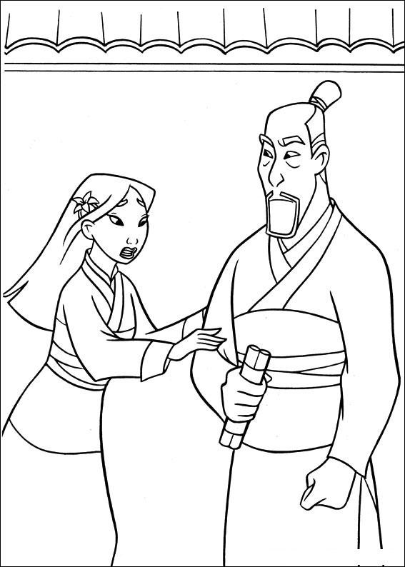 Mulan 63 Printese Disney Colorat