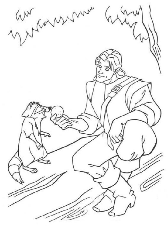 pocahontas meeko coloring pages - photo#19