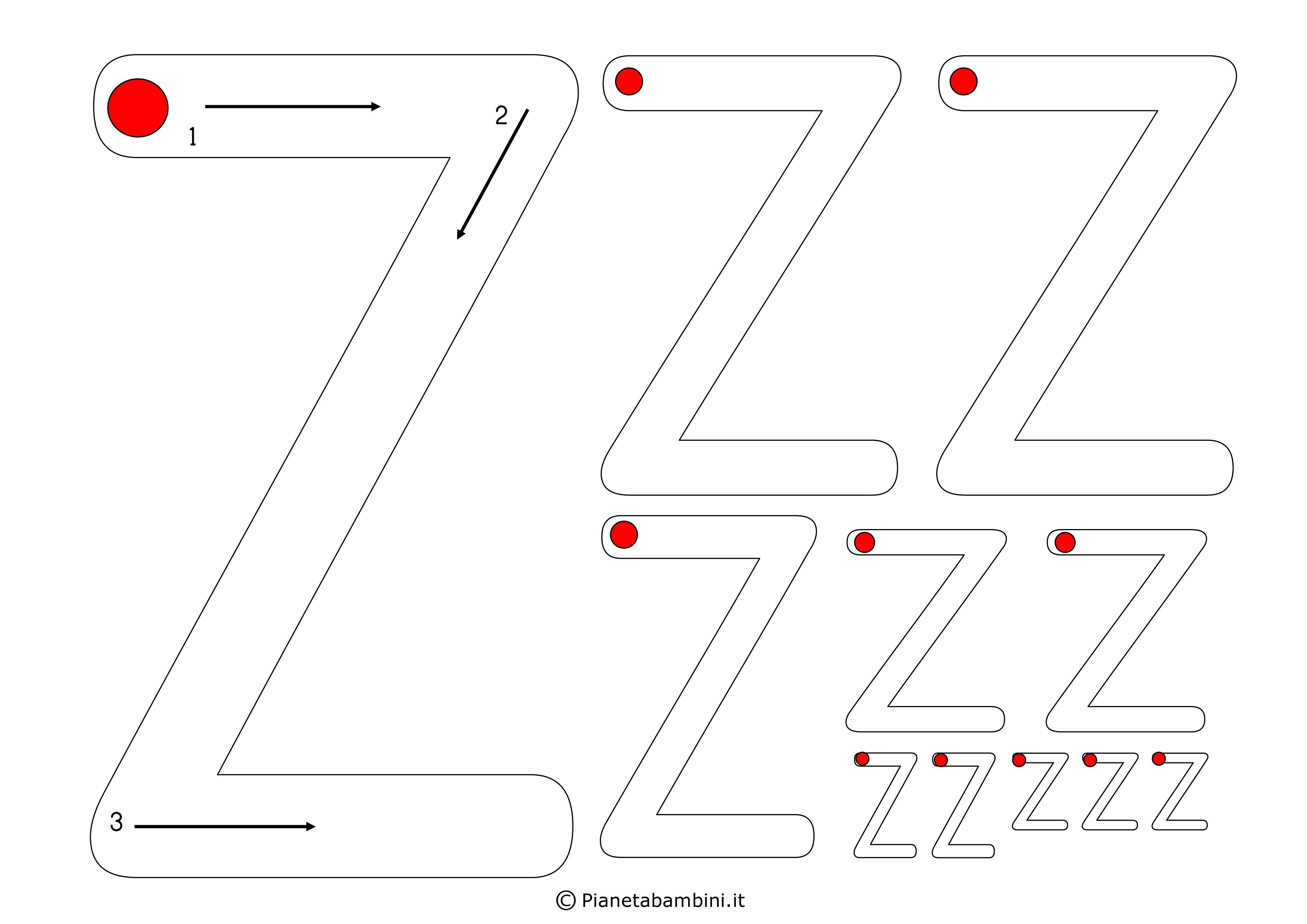 Scheda-Lettera-Z
