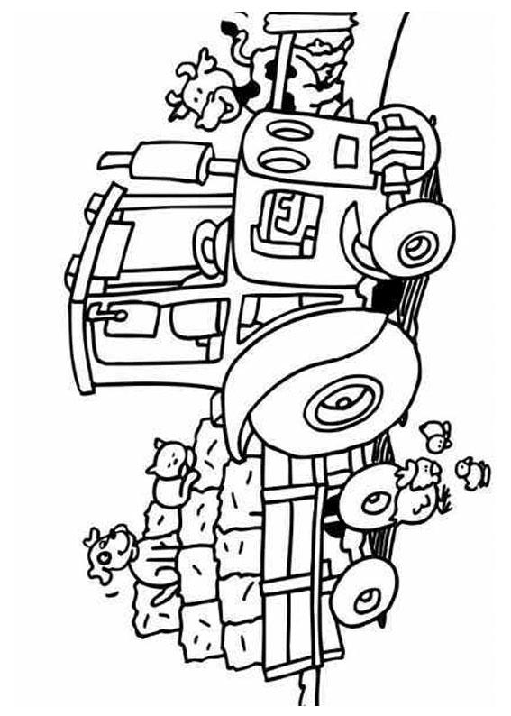 21 disegni di trattori da stampare e colorare for Fattoria immagini da colorare