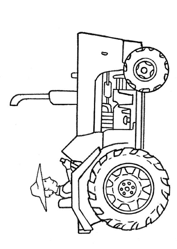 21 disegni di trattori da stampare e colorare for Disegni di casa da stampare