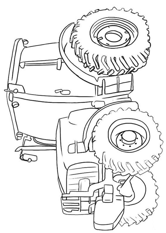 Disegni di trattori da stampare e colorare