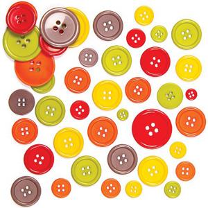 Bottoni di vari colori per l'albero autunnale