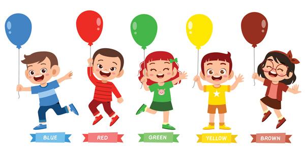 Schede sui colori in inglese per bambini