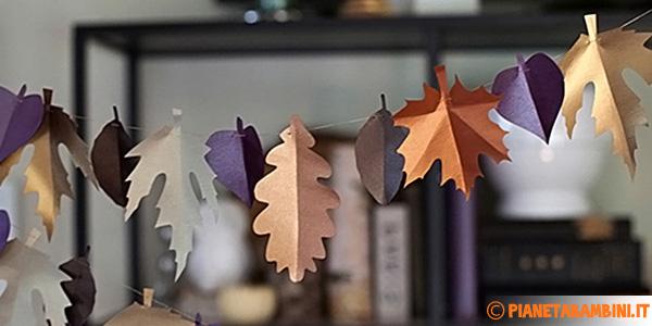 Decorazioni autunnali fai da te per bambini per scuola e for Fai da te decorazioni casa