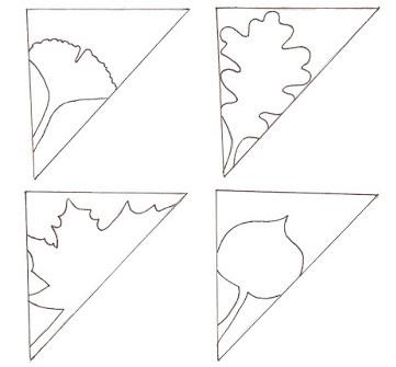 Come disegnare le foglie kirigami