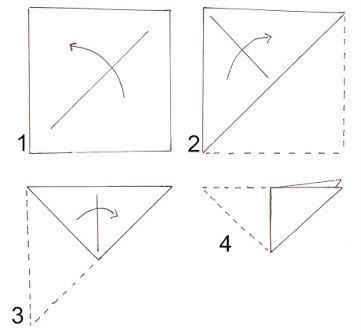 Come piegare i cartoncini quadrati