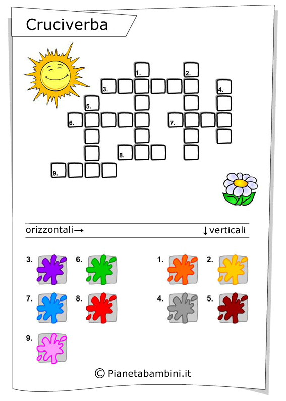 Esercizi sui colori in inglese 6