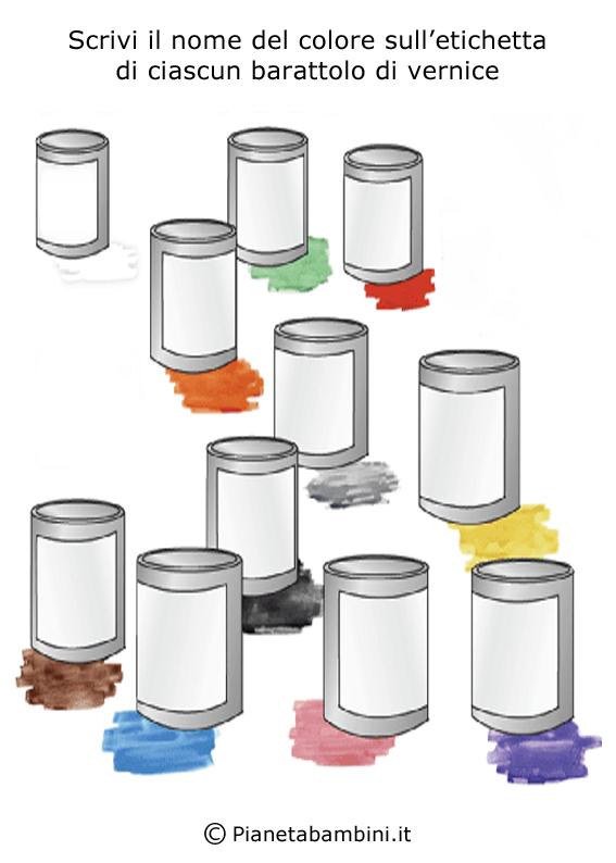 Esercizi sui colori in inglese 10