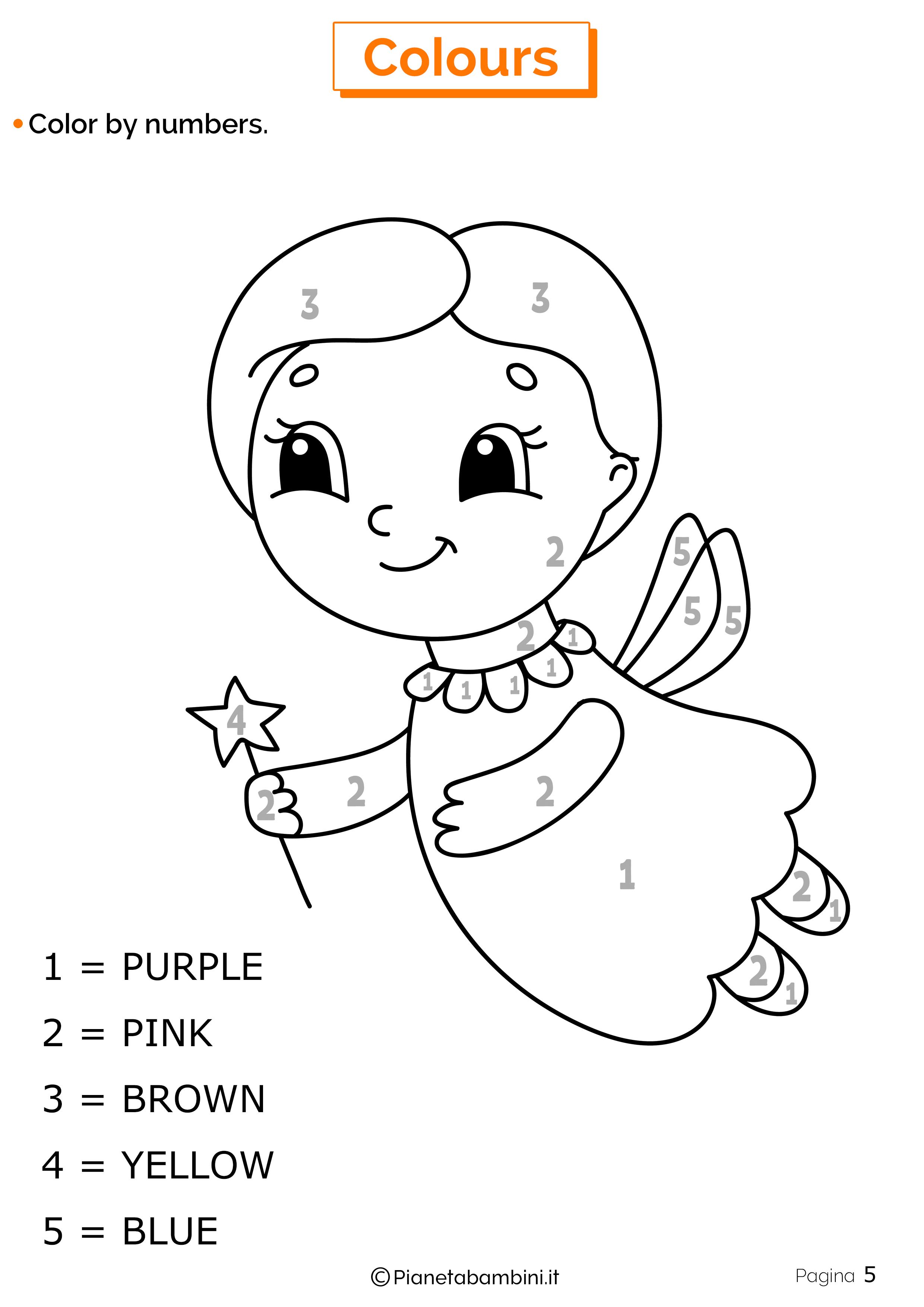 Scheda sui colori in inglese 5