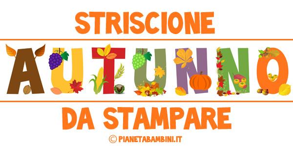 Striscione dedicato all'autunno da stampare e ritagliare