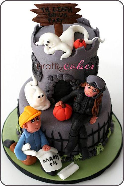 Foto della torta di Halloween n.74