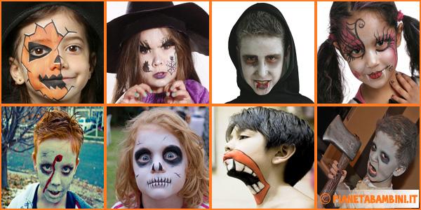 Trucco del viso per Halloween per bambini