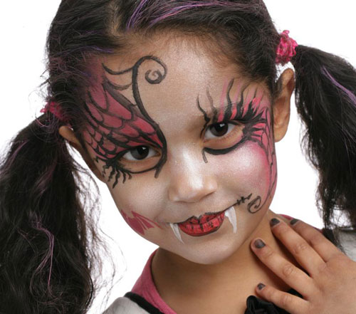 trucco di halloween per viso di bambini 65 idee con foto. Black Bedroom Furniture Sets. Home Design Ideas