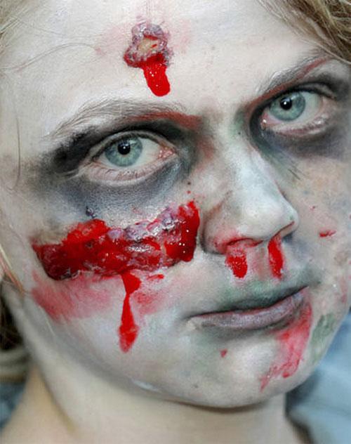 Trucco di Halloween da zombie n.06